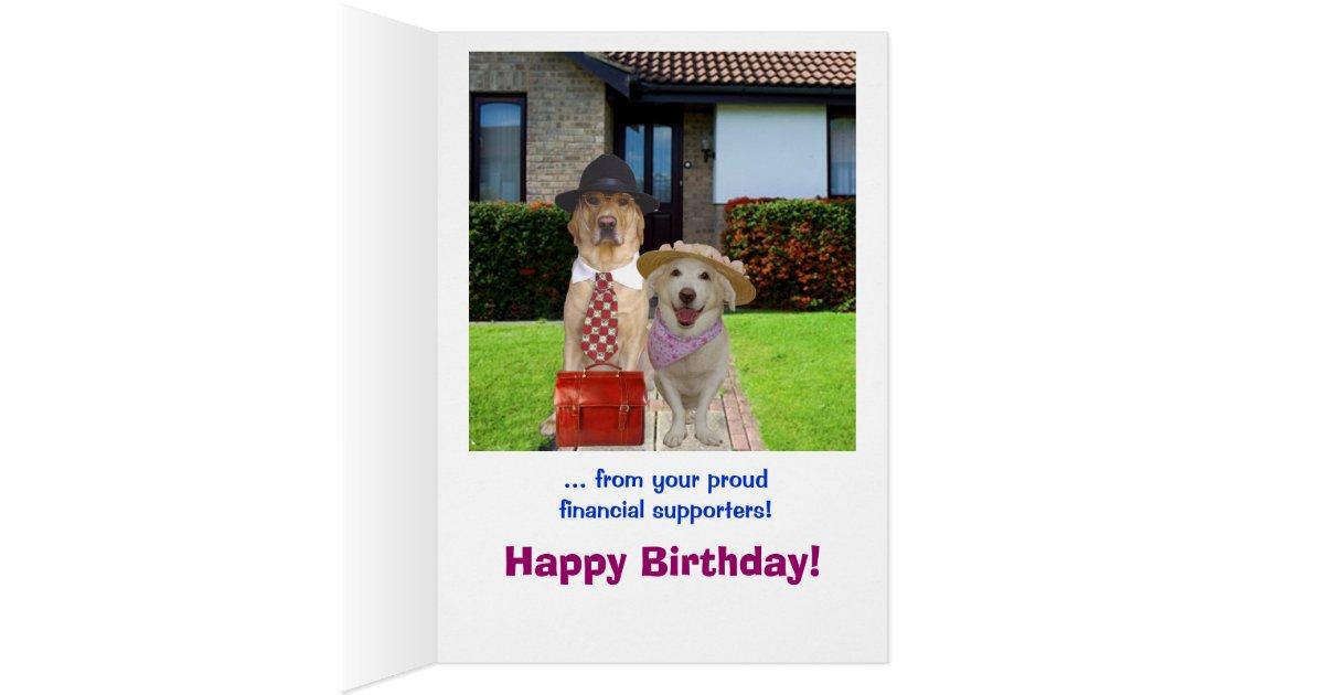 Funny Son Birthday Card – Birthday Card from Dog