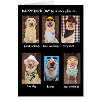 Funny Son Birthday Greeting Card