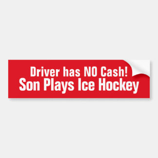 Funny,  Son Plays Ice Hockey Bumper Sticker