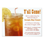 Funny Southern Sweet Tea Birthday Party 13 Cm X 18 Cm Invitation Card
