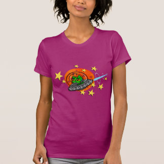 FUNNY SPACE KITTY CAT T-SHIRT
