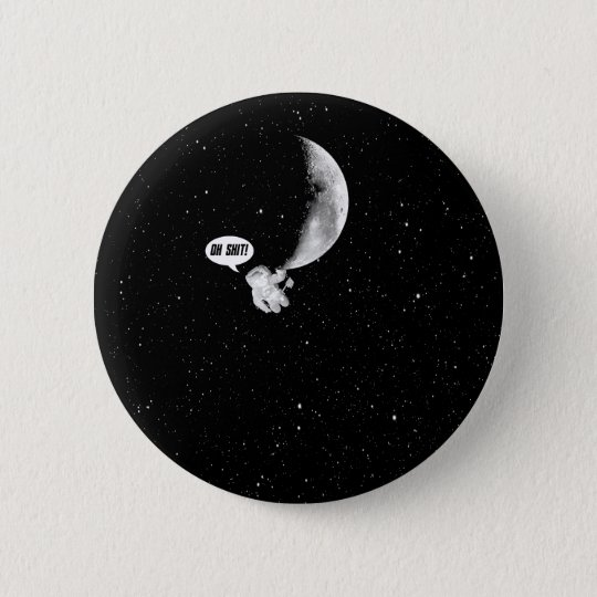 Funny Spaceman and The Moon 6 Cm Round