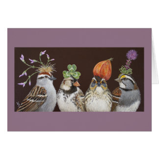 Funny sparrow party card