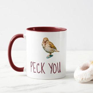 Funny Sparrow - Peck You Mug