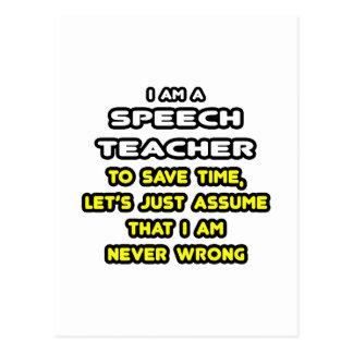 Funny Speech Teacher T-Shirts and Gifts Postcard
