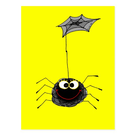 Funny spider postcard