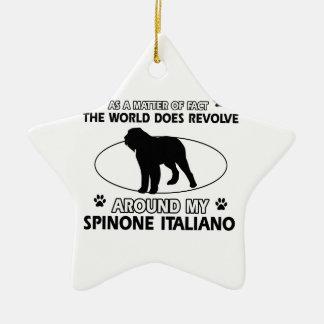 Funny spinone italian designs ceramic star decoration