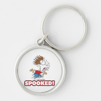 funny SPOOKED cartoon Keychains