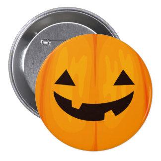 Funny Spooky Jack O'Lantern Face Happy Halloween 7.5 Cm Round Badge