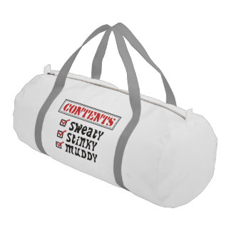 Funny Sports - © Contents: Sweaty, Stinky, Muddy Gym Duffel Bag