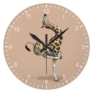 Funny Sporty Giraffe Clocks