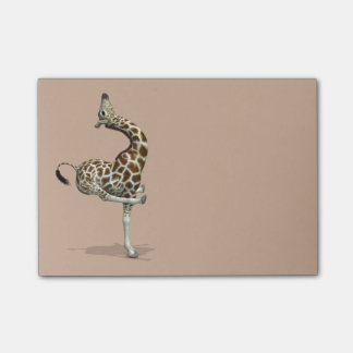 Funny Sporty Giraffe Post-it Notes