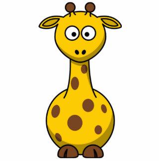 Funny Spotted Cartoon Giraffe Kids Standing Photo Sculpture