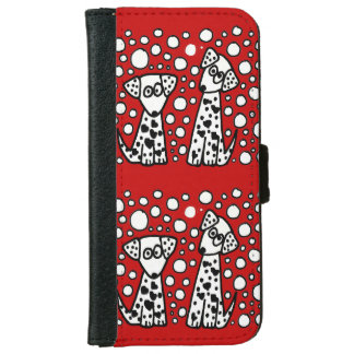 Funny Spotted Puppy Dog Love iPhone 6 Wallet Case