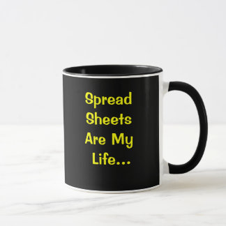 Funny Spreadsheet User Quote Mug - Cruel Joke