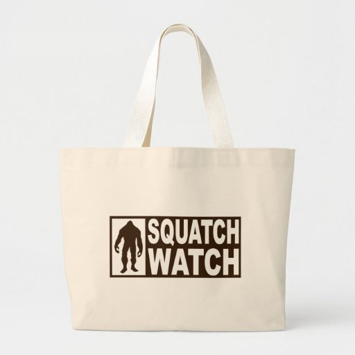 Funny SQUATCH WATCH Gear - Deluxe Finding Bigfoot Tote Bags