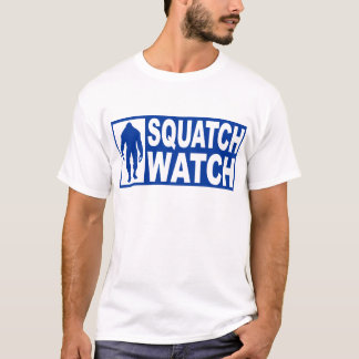 Funny SQUATCH WATCH Gear - Deluxe Finding Bigfoot T-Shirt