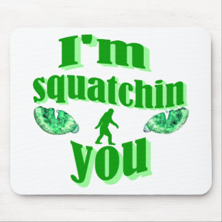 Funny squatching mouse mat