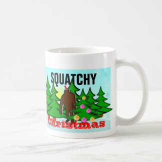 Funny Squatchy Christmas Bigfoot Tacky Basic White Mug