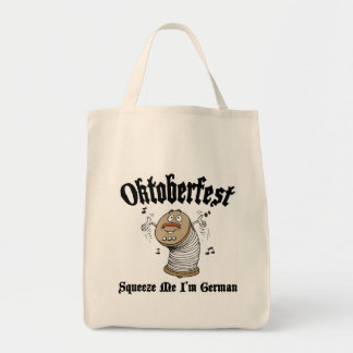 Funny Squeeze Me I'm German Oktoberfest Canvas Bags