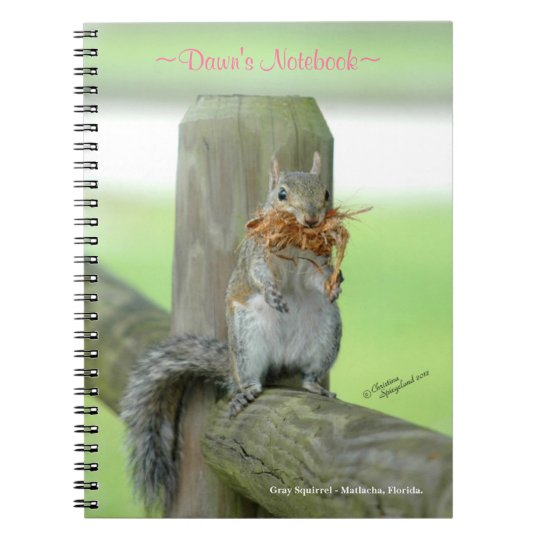 Funny Squirrel Customised Notebook