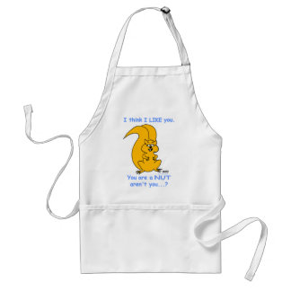 Funny Squirrel Lovers Cartoon Kitchen Apron