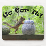 Funny Squirrel Picture ~ Go For It! Mouse Pad