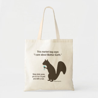 Funny squirrel shopping bag