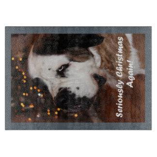 Funny St Bernard dog photograph Cutting Boards