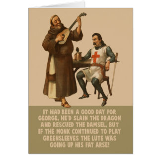 Funny St George's Day Greeting Card