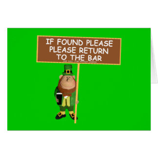 Funny St Paddy's Day Greeting Card