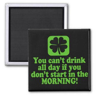 Funny St Paddys Drinking Humor Fridge Magnet