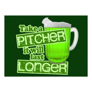 Funny St Patrick s Day Green Beer Custom Announcements