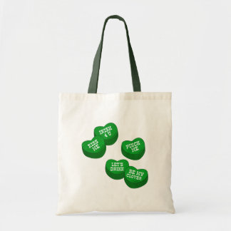 Funny St Patricks day Conversation Hearts Candy Bags