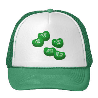 Funny St Patricks day Conversation Hearts Candy Hats