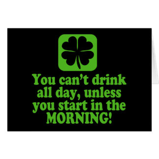 Funny St Patricks Day Drinking Card