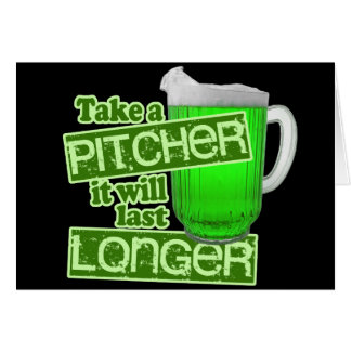 Funny St. Patrick's Day Drinking Greeting Card