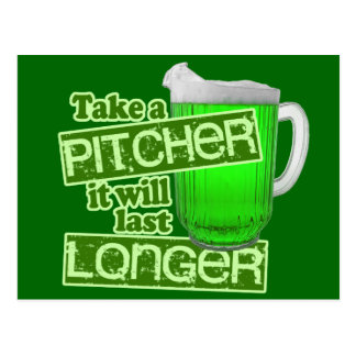 Funny St. Patrick's Day Drinking Postcard