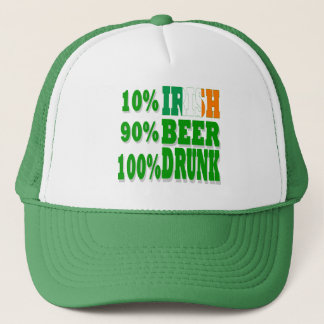 Funny  St Patrick's day drinking Trucker Hat