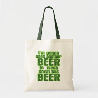 Funny St. Patrick's Day Green Beer Tote Bags