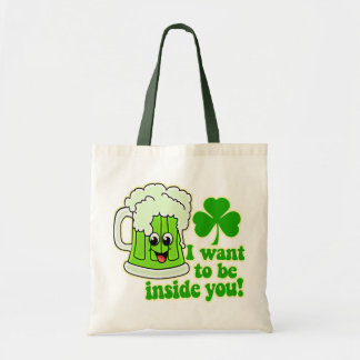Funny St Patricks Day Green Beer Bags