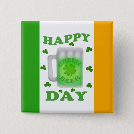 Funny St. Patrick's Day Green Beer Button