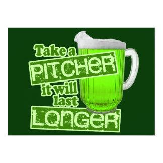 Funny St. Patrick's Day Green Beer 14 Cm X 19 Cm Invitation Card