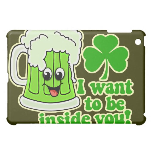 Funny St Patricks Day Green Beer Cover For The iPad Mini