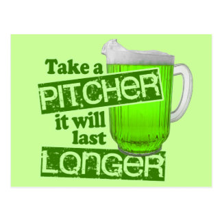 Funny St. Patrick's Day Green Beer Post Card