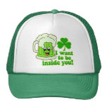 Funny St Patricks Day Green Beer Trucker Hats