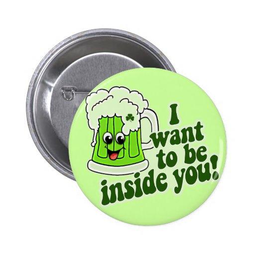 Funny St Patricks Day Irish 6 Cm Round Badge