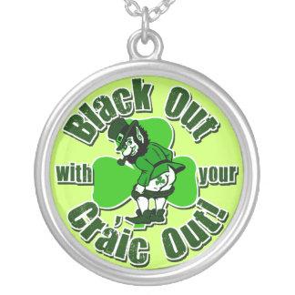 Funny St Patricks Day Irish Round Pendant Necklace