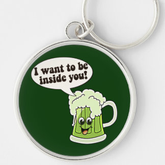 Funny St Patricks Day Key Ring