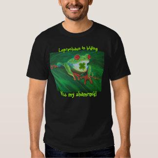 Funny St Patrick's Day Kiss My Shamrock t-shirt